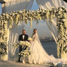 Indoor Wedding Ceremonies, Outdoor Wedding Decorations, Stage Decorations, Wedding Ceremony, Wedding Set Up, Wedding Stage, Diy Wedding, Wedding Flowers, Wedding Dresses