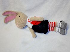 Amigurumi hare  #amigurumi #crochet #hare #bunny #animal #toy #doll #królik #zając #wiekanoc #easter #szydełkowy