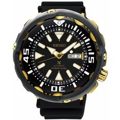 Seiko Men's SRPA82 Prospex Automatic Black Rubber Watch