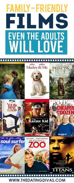 101 Family Friendly Movies - From The Dating Divas - 101 Family Friendly Movies – From The Dating Divas Family-Friendly Films That Adults Will Love Too {because sometimes I really get sick of cartoons- lol} Family Guy, Friends Family, Marley And Me, Kid Movies, Funny Kids Movies, Good Movies For Kids, Family Movie Night, Dads, Dating Divas