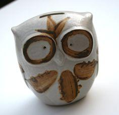 funky owl is a beacon on 1960's folk art