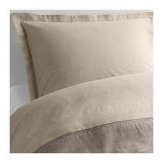 MALOU Duvet cover and pillowsham(s) - Full/Queen (Double/Queen) - IKEA - Warm colored - reading room.