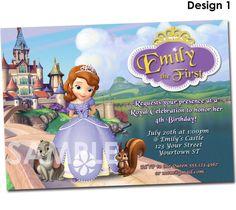Sofia the First Invitation - Printable Birthday Party Invite