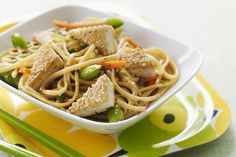 Recipe for Grilled Tofu with Asian Noodle Salad