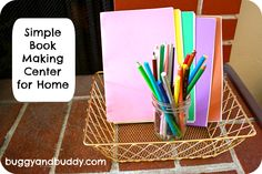 Encouraging Creativity and Confidence in Writing with a Simple Book Making Center