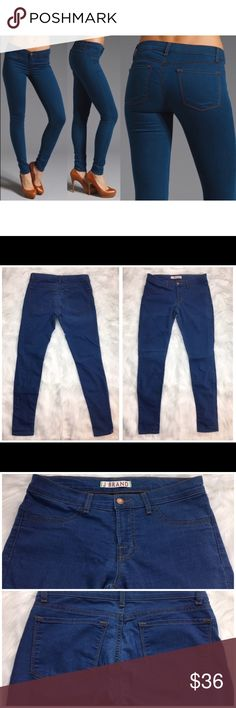 """J Brand Super Skinny Salton Jeans Super comfy J Brans Super Skinny Salton Jeans. Size 28. Measurements are 8"""" Rise 30"""" Inseam. Material is 64% cotton 32% polyester 4% Lycra.  110116GW499 J Brand Jeans Skinny"""