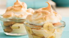 Banana Pudding: Individual servings of classic Banana Pudding make great party desserts. We love it with extra wafers.