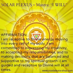 Solar Plexus Chakra Mantra - I Will