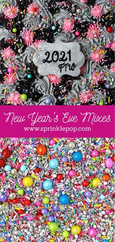 2020 has been...a year. But we're almost through it, and we're hoping that 2021 will be brighter for everyone! And what better way to kick things off than with a fun new collection of sprinkles. Am I right?? #newyears #nye #sprinkles #baking #recipe #desserts #colorful #happynewyear New Year's Desserts, White Desserts, Blue Frosting, Oreo Cake, Wafer Paper, Glitter Stars, New Years Eve, Nye, Night Skies
