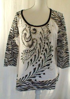 89782e41185 Onque Woman Animal Pattern Studded Top Women s Plus Size 1X  OnqueWoman  top  Plus Size