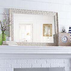 Ornate Ivory Framed Mirror, 31x43 in. | Kirklands