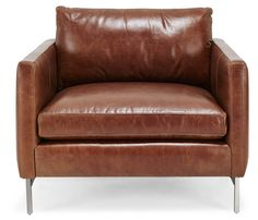 Great Leather Chair, Modern and Sophisticated from ABC Home