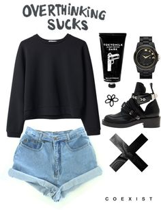 """suckkkssss"" by mwa-exohexoh ❤ liked on Polyvore"