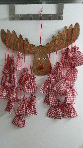 """Kinderzimmerdekoration - Adventskalender """"Rudolf"""" - ein Designerstück von Firlefanz-Unna bei DaWanda"""