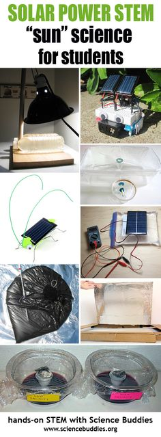 Student #solar #science project ideas for #altenergy #STEM [ScienceBuddies, http://www.sciencebuddies.org/blog/2016/06/solar-power-roundup.php?from=Pinterest] #scienceproject #sunscience #solarpower