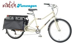 Radish has the best weight-to-cargo capacity ratio of any cargo bike on the market. Weighing just 43 lbs., it's can carry up to 350 pounds (rider + cargo). Blending quality materials and components, comfort, light weight and ride quality, Radish represents the quintessential Xtracycle experience and all-in-one cargo bike solution.