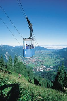 going up the mountain in oberammergau