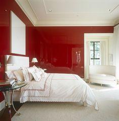 The Style Files: Brian McCarthy   La Dolce Vita   Red Bedroom