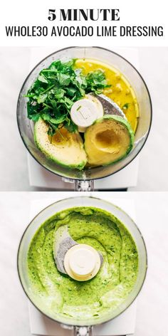 Creamy and refreshing avocado cilantro lime dressing. Great for dipping veggies . - Creamy and refreshing avocado cilantro lime dressing. Great for dipping veggies and topping off any - Healthy Food Recipes, High Protein Vegetarian Recipes, Vegetarian Recipes Dinner, Whole Food Recipes, Paleo Food, Paleo Dinner, Paleo Meals, Food Nutrition, Easy Whole 30 Recipes
