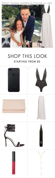 """""""Simon Oliveira's wedding in Portugal w/ Liam"""" by vane-abreu ❤ liked on Polyvore featuring Karen Millen, Elie Saab, Gianvito Rossi, NARS Cosmetics and Fragments"""