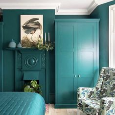 Monday Inspiration: Beautiful Rooms - Mad About The House Neutral Bedroom Decor, Bedroom Green, Teal Bedrooms, Apartment Therapy, Decoracion Vintage Chic, Interior Styling, Interior Design, Pink Baths, Monday Inspiration