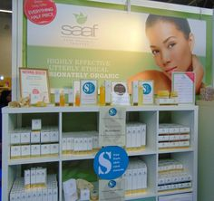 Saaf showed off their amazing skincare range at the Love Natural, Love You show in London this weekend