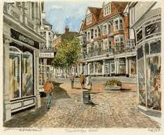 Tunbridge Wells - Pantiles 2 - Portraits of Britain Charles Bronson, Tunbridge Wells, Kent England, Old Paintings, Old Photos, Britain, Vineyard, Street View, Wellness