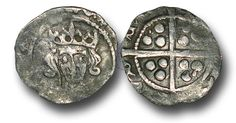 Edward IV (1461-1483), Penny, 0.50g., Heavy Cross and Pellets Coinage (1465), Dublin mint, crowned facing bust of Edward, rev., plain long cross, (S.6323; JBurns Du-1H (type 1)), very fine