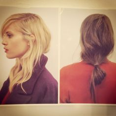 Laid back hair by Sam McKnight at LFW