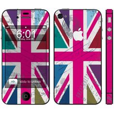Skin uk flag iPhone 4s ❤ liked on Polyvore