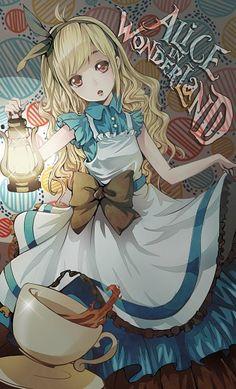 Alice with lantern