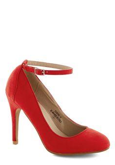 Ballroom Glancing Heel in Ruby | Mod Retro Vintage Heels | ModCloth.com