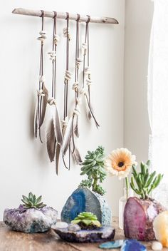 """Like the wood """"bar"""" with maybe air plants suspended"""