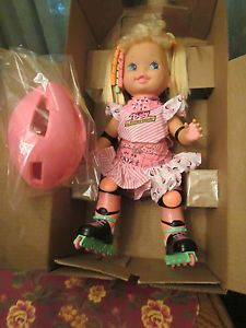 Baby Roller Blade Doll 91, I remember dad coming home with this for me after I was bit by a dog, she was my favourite doll