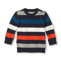 A striped sweater that