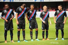 Palace sporting the 'evil sash' away at Dagenham #cpfc
