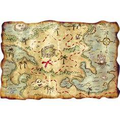 Carte au trésor Pirate  treasure map