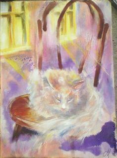 Картина `Венский стул`. Работа из серии 'Сиреневый город' экспонировалась на  - Выставке «Вот моя деревня…» (Библиотека украинской литературы, Москва, живопись, графика) 2012  - Выставке «КотоВасия» (Государственный Выставочный зал-музей…