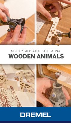 Step by step guide to creating wooden animals: From transferring the design to s. Step by step guide to creating wooden animals: From transferring the design to sanding rough edges, we'll show you how to complete the project from st. Carved Wooden Animals, Wooden Animal Toys, Wood Toys, Dremel Tool Projects, Diy Wood Projects, Wood Crafts, Dremel Werkzeugprojekte, Dremel Wood Carving, Dremel Bits