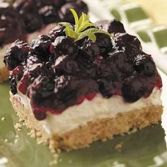 Blueberry Squares Recipe from Taste of Home -- shared by Barbara Robbins of Chandler, Arizona