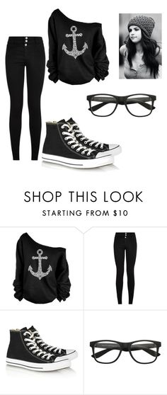 """Untitled #86"" by lovepeaceandnetflex ❤ liked on Polyvore featuring Converse"