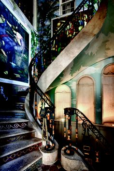 Love this staircase - Versace mansion, Miami