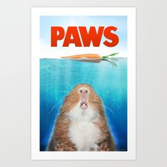 Piggie Parodies: PAWS. Art Print by Cyberelg | Society6