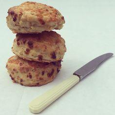 Cheddar, apple and mustard scones