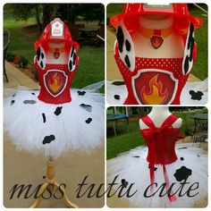 Marshall tutu costume Paw Patrol girl costume by MissTutuCute2