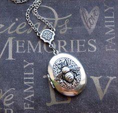 Silver Scent Locket Necklace Enchanted Queen by TheEnchantedLocket, $27.00