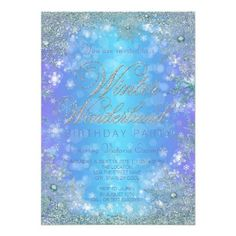 #Spring #AdoreWe #Zazzle - #Zazzle Frozen Winter Wonderland Birthday Party Card - AdoreWe.com