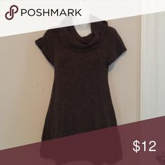 Sweater Brown shirt sleeve cowl neck sweater. Great with leggings and boots! Pink Rose Sweaters Cowl & Turtlenecks