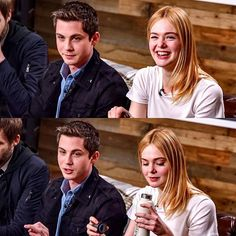 Logan Lerman and Elle Fanning at the Variety Studio during the Sundance Film Festival. {#SidneyHall #ellefanning #loganlerman #sundance2017}