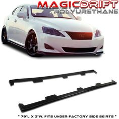 06 07 08 Lexus IS250 IS350 IS-F ISF UL Underline JDM Flat Side Skirts Extensions | eBay Motors, Parts & Accessories, Car & Truck Parts | eBay!